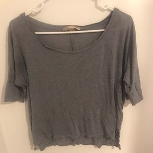 Forever 21 Light Blue Scoop Neck High-Low Tee
